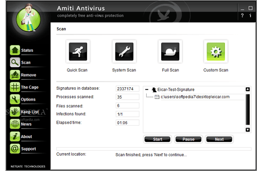 تحميل برنامج الحماية و مكافحة الفيروسات Amiti Antivirus 16
