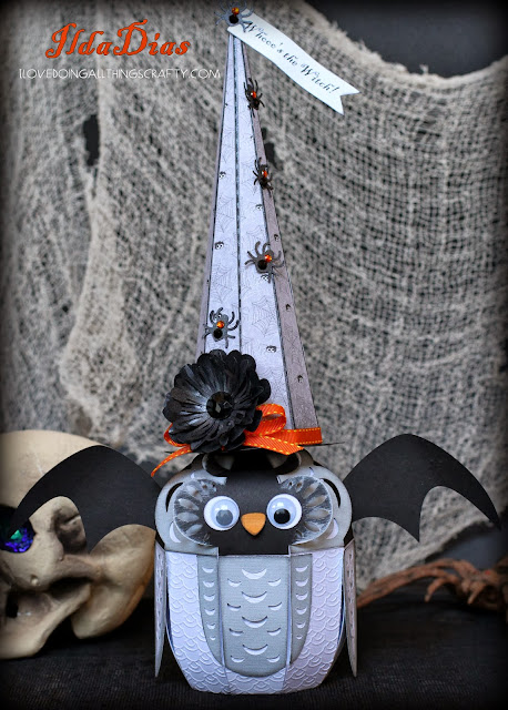 Halloween Owl Witch Treat Box | SVGCuts Files