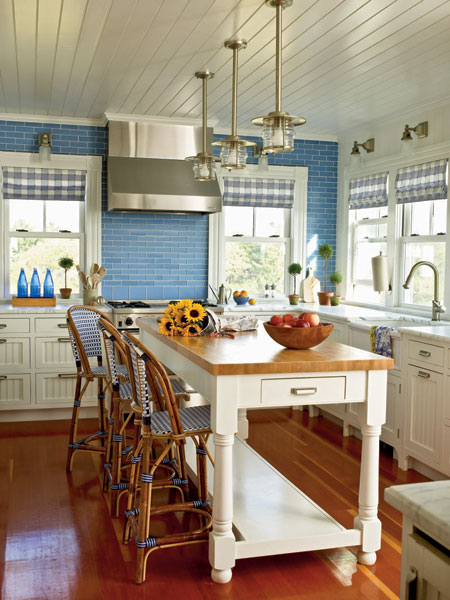 Coastal Kitchen Backsplash