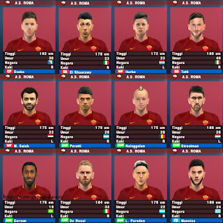 Download Texture Face Pack AS Roma for PES PSP Android