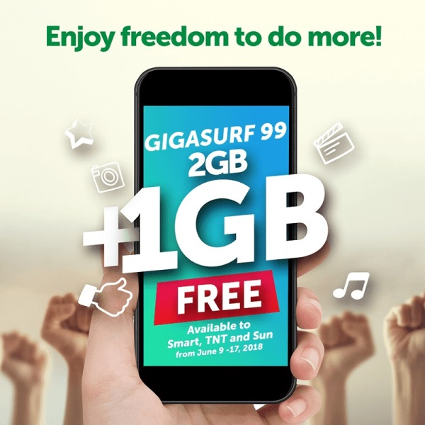 GIGASURF 99 Comes with Additional 1GB Data until June 17