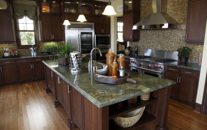 Granite Kitchen Countertops Ideas Part - 37: Emerald Green Granite Kitchen Countertop Ideas