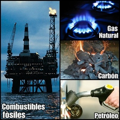 quema de petroleo, gas y carbon