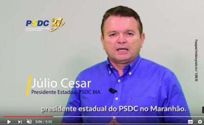 Presidente do PSDC MA; Júlio César deixa mensagem a todos maranhenses.