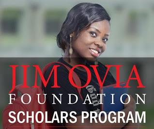 Jim Ovia Foundation Scholarship Programme 2020/2021