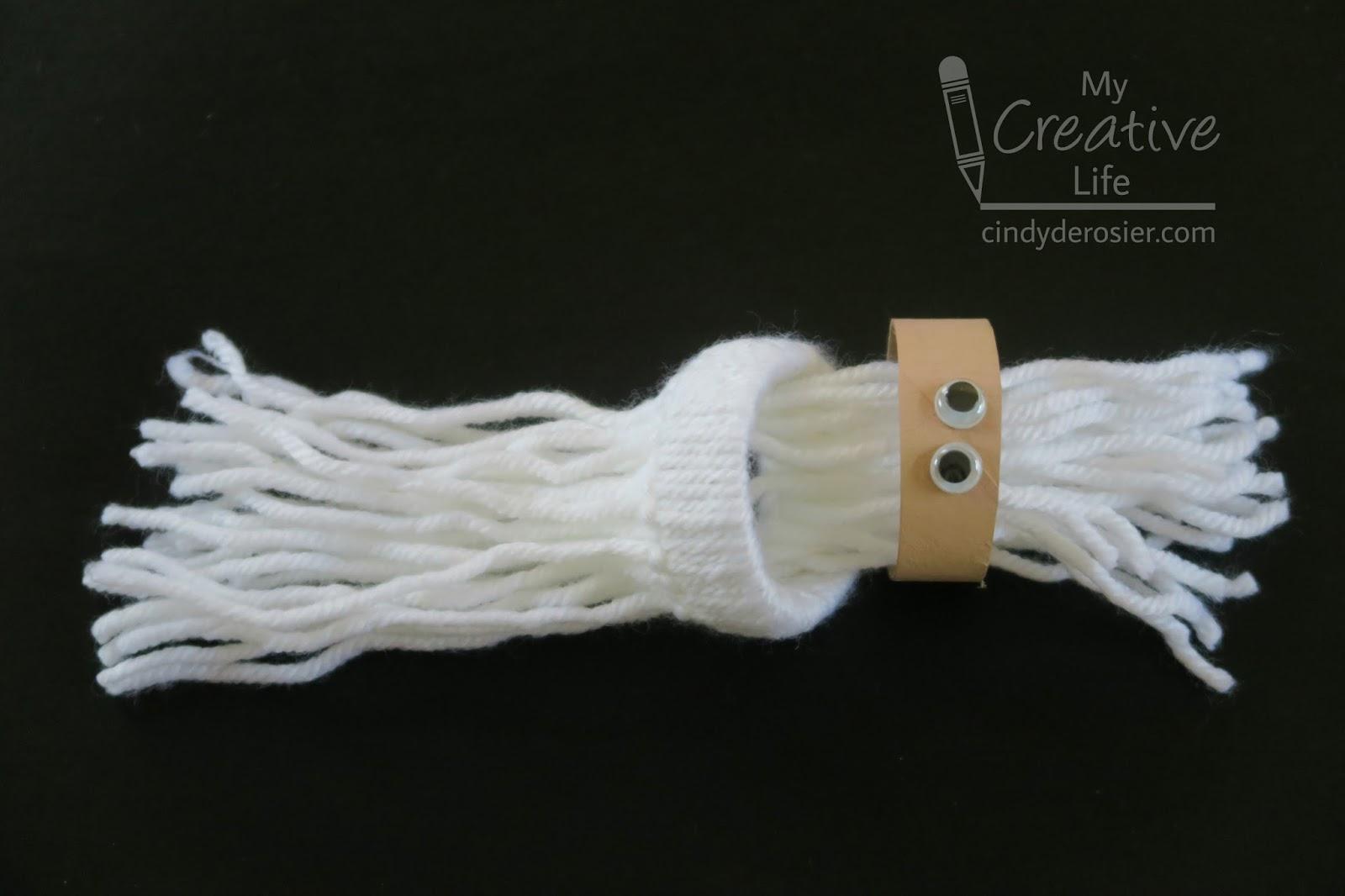 Cindy Derosier My Creative Life Yarn Santa Ornament
