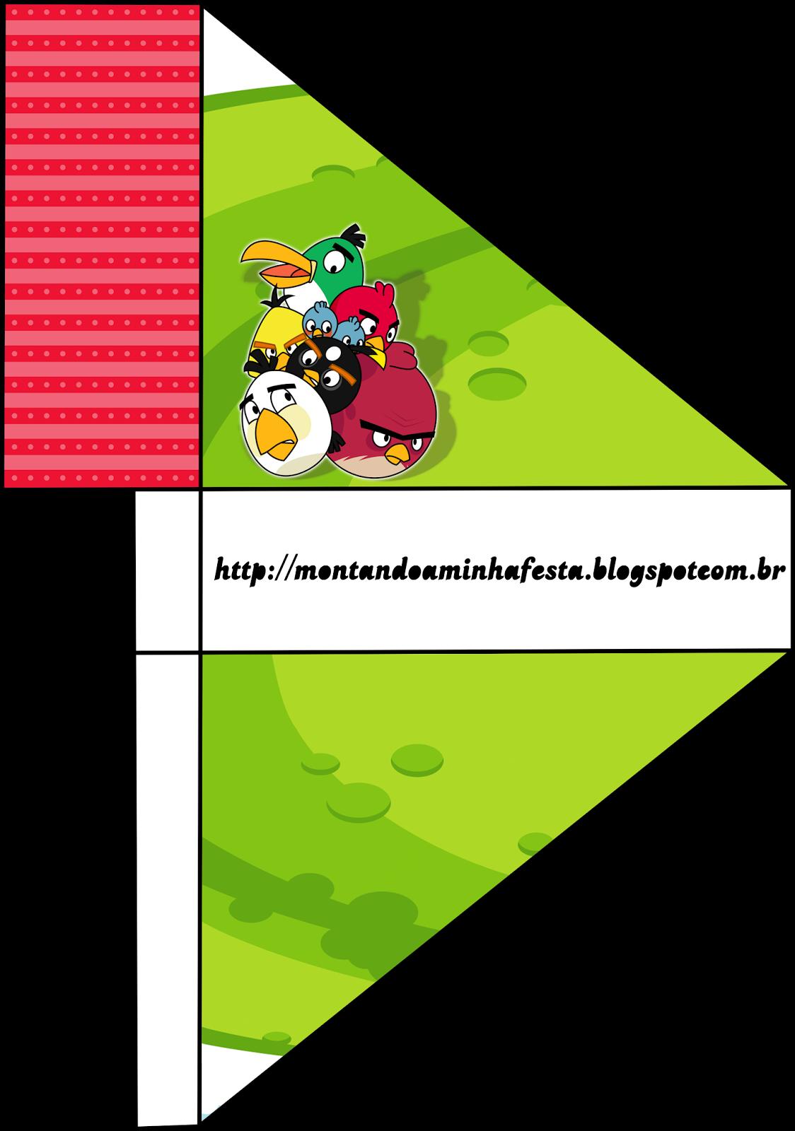 Para servilleteros de Cumpleaños de Angry Birds para imprimir gratis.