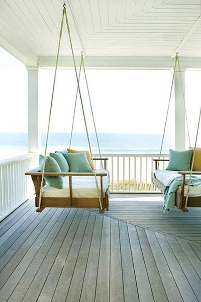 balancoire canape terrasse balancelle design maison vacances