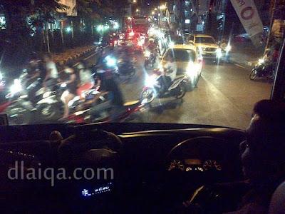 suasana lalu lintas di Kota Bandar Lampung (1)