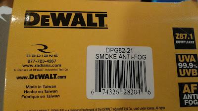 DeWalt Concealer Dual Mold Goggle Smoke Anit-Fog