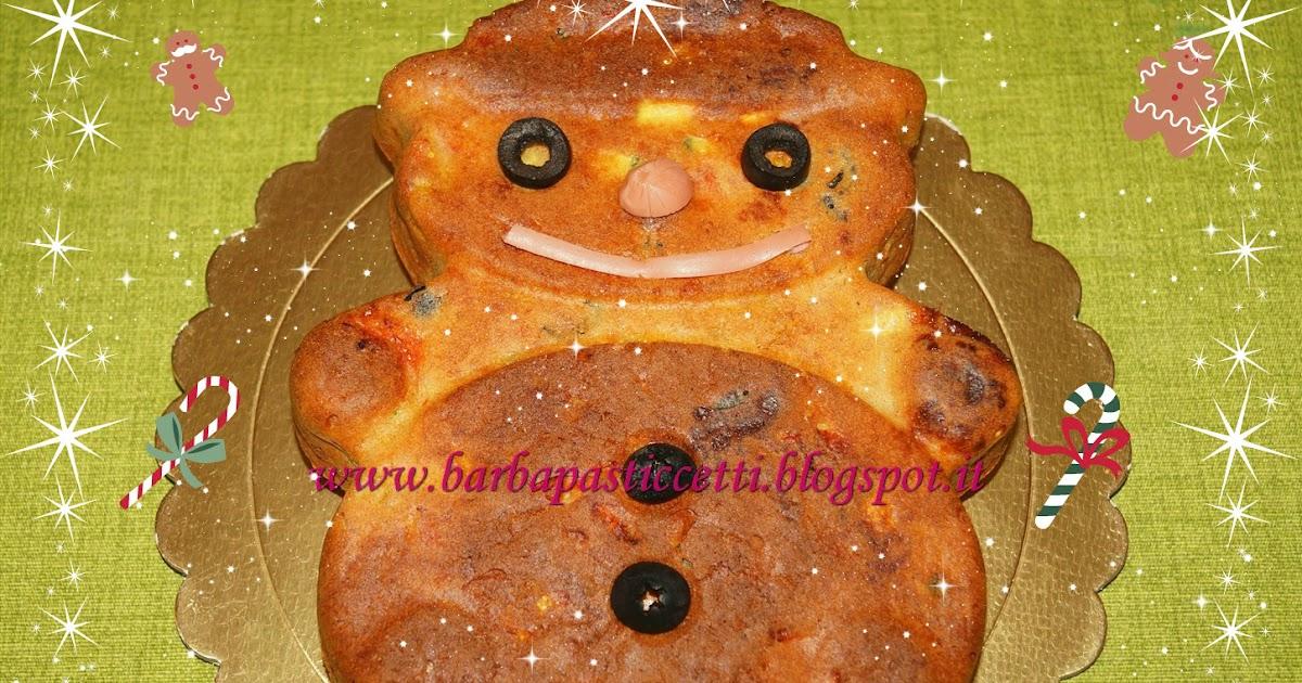 Omino di neve di plumcake salato e Benvenuto dicembre!