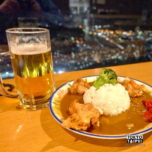 【觀景餐廳天狗】天狗岩形狀咖哩飯 配夜景吃下肚好滿足