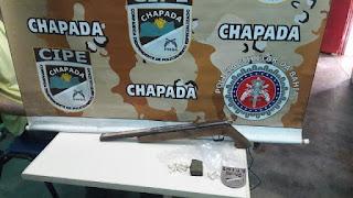 Cipe Chapada aprende arma de fogo