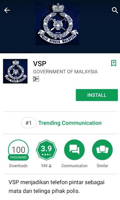 Muat turun Aplikasi Volunteer Smartphone Patrol (VSP)