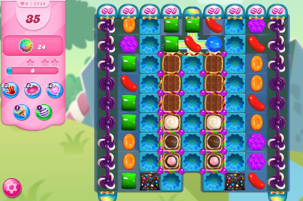 Candy Crush Saga level 7714