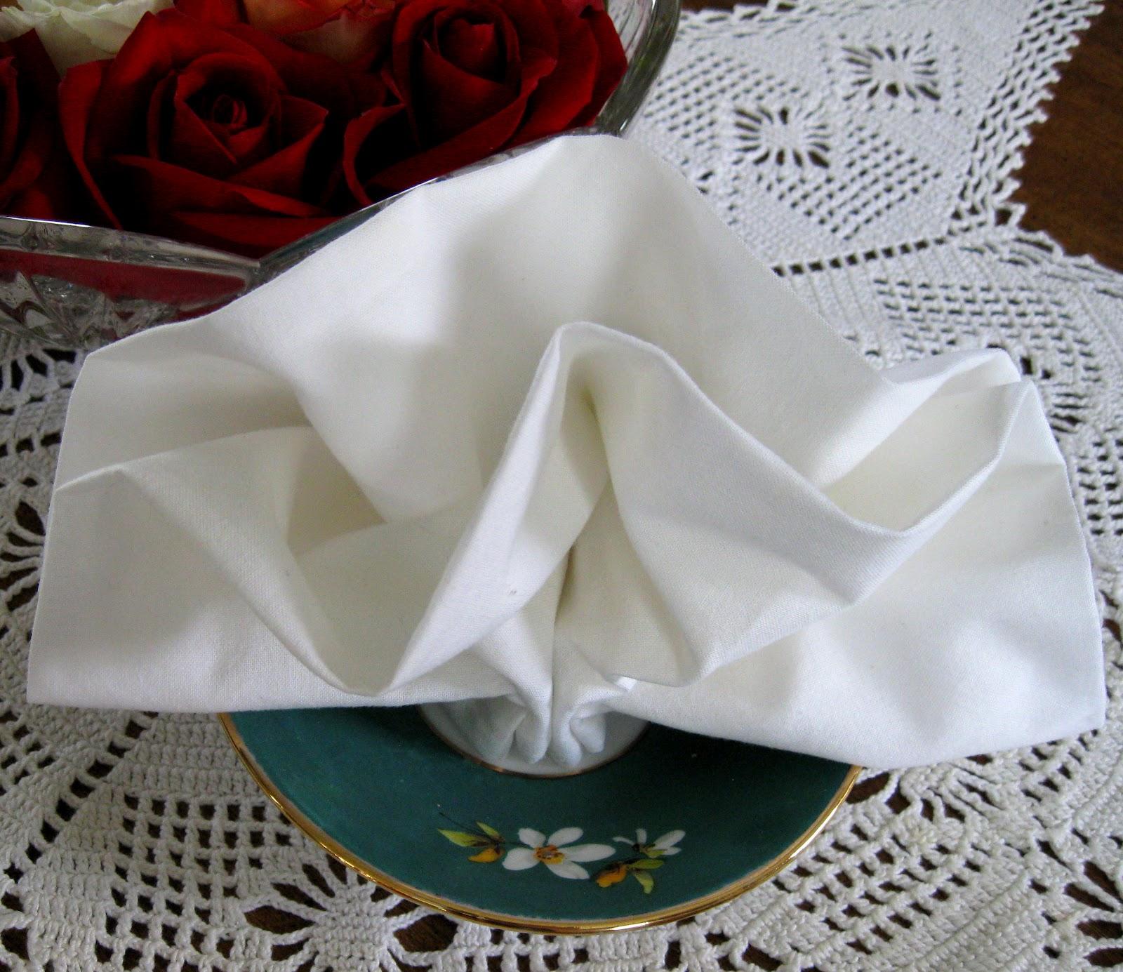 Flower Napkin Folding Gardening Flower And Vegetables