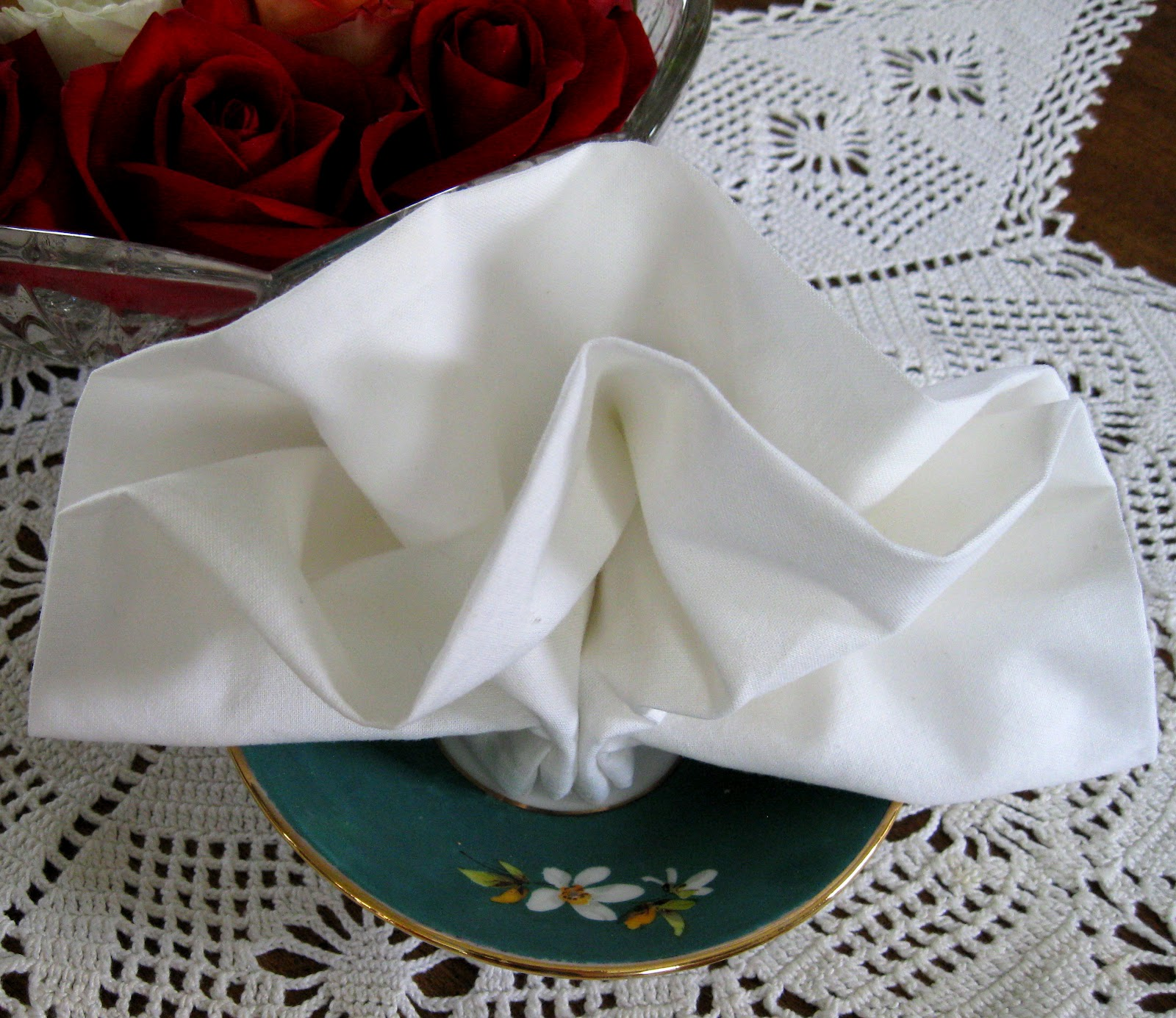 Double Fan Napkin Fold The Enchanting Rose