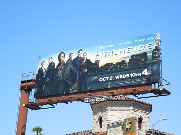 Ironside 2013 remake series premiere billboard