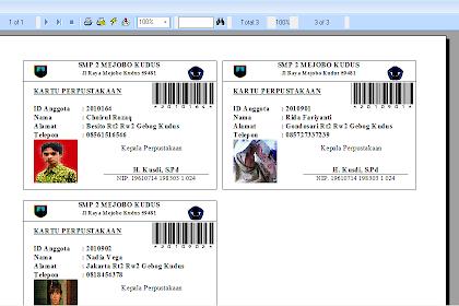 Membuat Kartu Anggota dengan Crystal Report 8.5