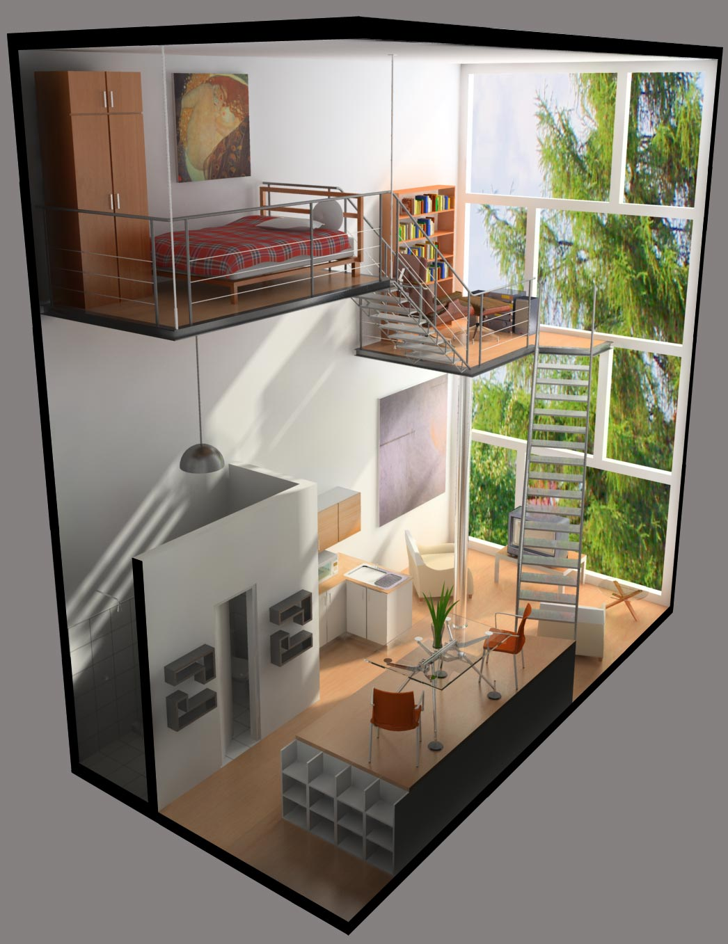 Apartamentos tipo loft que son y cuales son sus - Cuanto cuesta hacer una casa de dos plantas ...