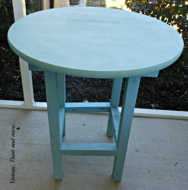 Diy patio table vintage paint and more diy wood patio table painted with diy chalk watchthetrailerfo