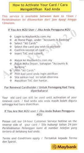 Cara Mengaktifkan Kad Kredit Maybank