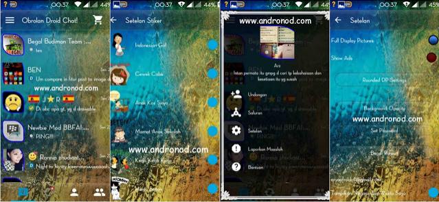 BBM Mod Droid Chat v2.13.1.14 Apk Clone | Unclone Tema Transparan