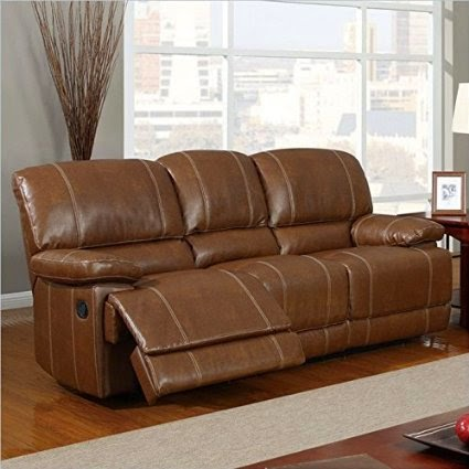 Superieur Globa Brown Rotunda Brown Bonded Leather Reclining Sofa And Loveseat Set