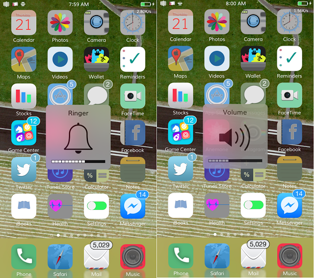 cydia tweak which allows you to quickly and easily toggle between ringer and general volume by which you can know exactly what volume you're changing