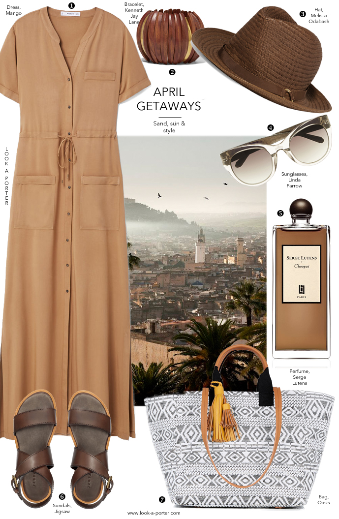Many ideas on how to style a maxi shirt dress for a summer holiday via www.lok-a-porter.com style & fashion blog