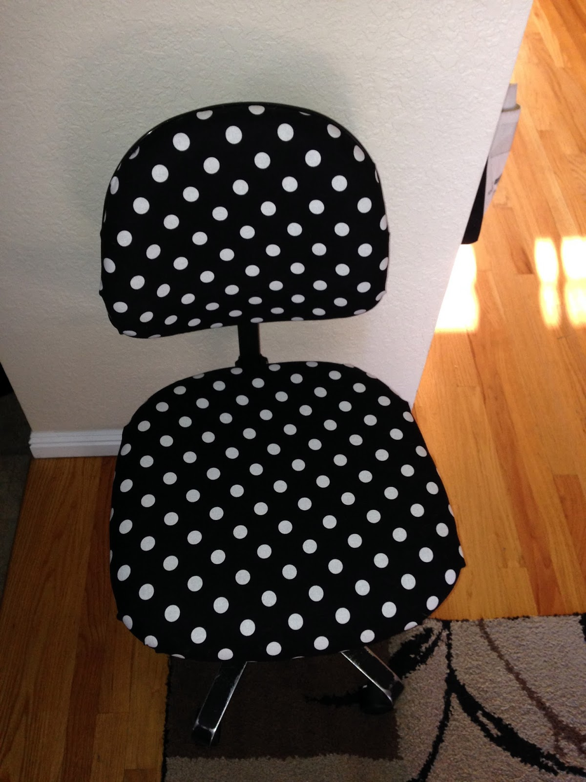 recovered classroom chair, polka dot chair, kindergarten classroom