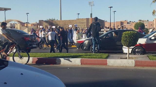 بالفيديو الاحتلال المغربي يقمع المظاهرات السلمية اثناء تواجد مبعوث الامم المتحدة الى الصحراء الغربية في زيارة رسمية