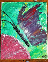 Butterfly on the Virtual Refrigerator  - share your art posts on our Virtual Refrigerator - an art link-up hosted by Homeschool Coffee Break @ kympossibleblog.blogspot.com