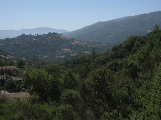 View toward Mt. Umumhum from the summit of Mt. Eden Road, Saratoga, California