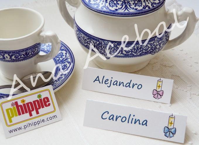 Decoración Bautizo  Nacimiento Identificador mesa personalizado original