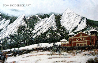 Chautauqua - Winter, Late Afternoon by Boulder artist Tom Roderick