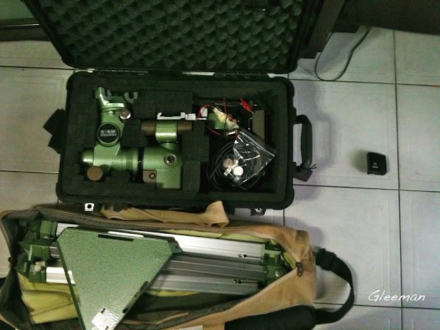 一只塘鵝箱剛好可以塞進Pentax MS-3 赤道儀主體。