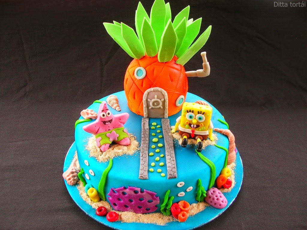 spongyabob torta képek SpongyaBob torta   GasztroBlogok.hu spongyabob torta képek