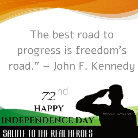72nd independence day india