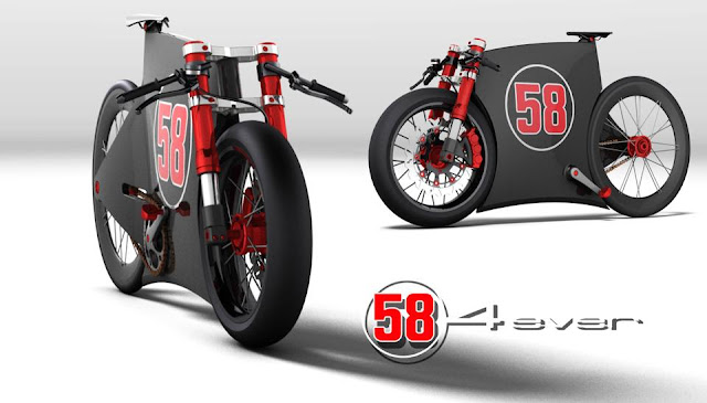 SIC-4Ever Marco Simoncelli Tribute Bike Concept by Paolo Tesio