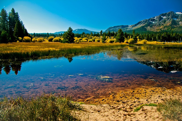 Landscape of Lake Tahoe Beautiful Scenery