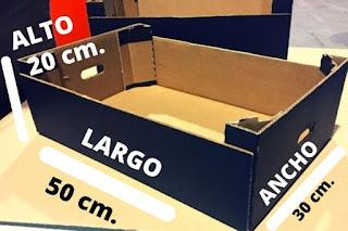 cajas para frutas medida 50x30x20