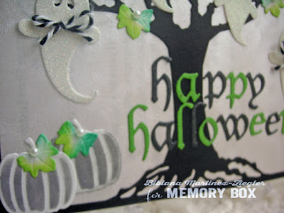 halloween oak ghosts card pumpkins