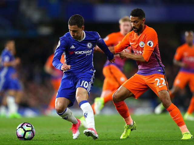 Hazard Dua Gol, Chelsea Kalahkan City