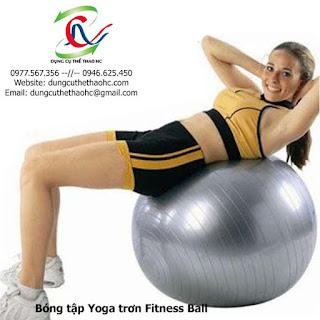 Bóng tập Yoga trơn Fitness Ball 75cm
