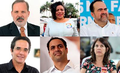 Seis  candidatos ao Governo de Pernambuco cheios de planos e visões diferentes