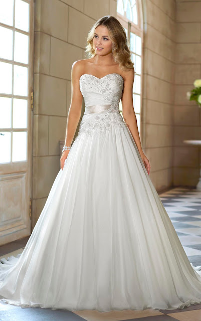 Beautiful Strapless Wedding Dresses With Bling
