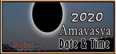 2020 Amavasya Dates for New Delhi, India