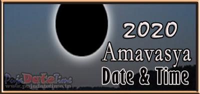 2020 Amavasya Dates for New Delhi, India