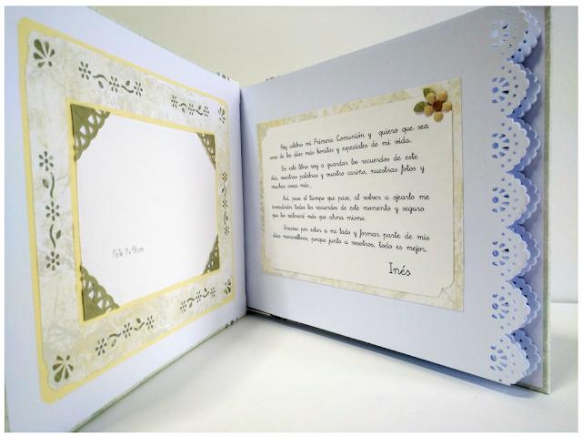 Libro de firmas comunion personalizado
